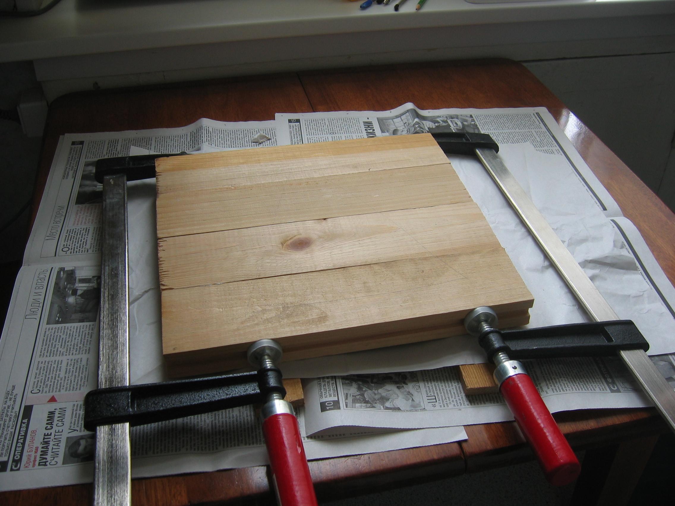 Изготовление клееной доски своими руками